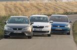 Seat León ST 1.4 TSI, Skoda Octavia Combi 1.4 TSI, VW Golf Variant 1.4 TSI, Front