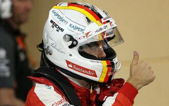 Vettel in der ersten Reihe