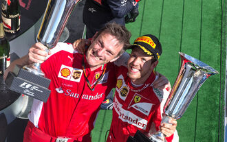 Sebastian Vettel James Allison - GP Ungarn 2015