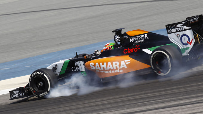 Force India VJM07 speckt ab