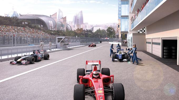 Formel 1- Stadtkurs in Baku