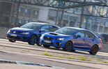 Subaru WRX STI, VW Golf, Side view