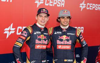 Toro Rosso-Fahrer Verstappen und Sainz