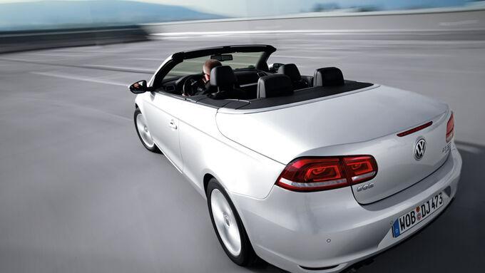 VW Eos 1.4 TSI, Rückansicht, von oben