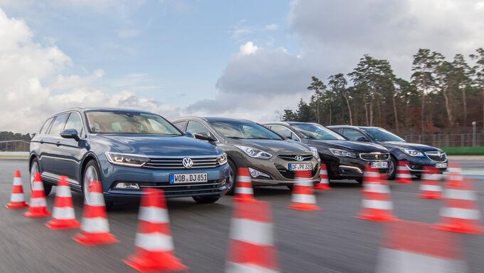 VW Passat Variant, Opel Insignia ST, Peugeot 508, Hyundai i40 Estate