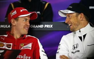 Vettel Button - Formel 1 - GP China - Shanghai - 9. April 2015