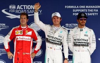 Vettel, Rosberg Hamilton - GP Mexiko 2015