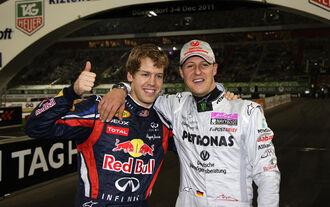 Vettel Schumacher Race of Champions 2011