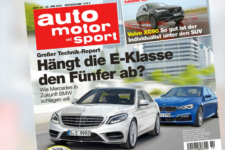 neues heft von auto motor und sport mercedes e klasse vs. Black Bedroom Furniture Sets. Home Design Ideas