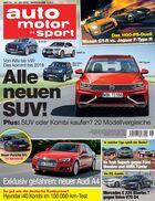 auto motor und sport, Heft 15 / 2016, Titel, Vorschau